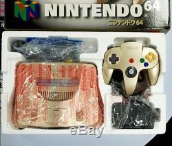 Console Couleur Nintendo 64 Gold Édition Limitée Excellent État Rare