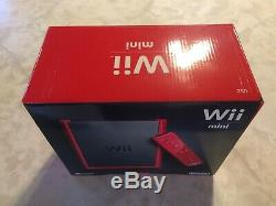 Console Rouge De 8 Go Pour Nintendo Wii Mini Édition Limitée, Neuf. Condition Excellente