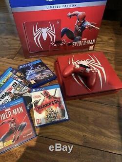 Console Spider-man Édition Limitée Ps4 1 To Mint Condition Inc. 5 Jeux Ps4
