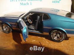 Danbury 1971 Ford Mustang Fastback Mach 1 Édition Limitée, État Neuf. État