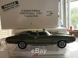 Danbury Mint Edition Limitée N ° 3125 1969 Papiers Conditionnels Pour Collecteur De Gto 1969