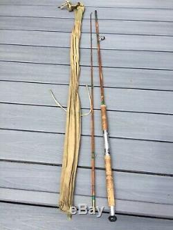 Dawsons De Bromley Ltd De Split Canne 8ft Pêche Vintage Rod En Excellent État