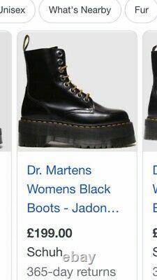 Dr Martins Jadon Boots Uk5 Eu38 Utilisé Double Sole Très Cool! Excellent État