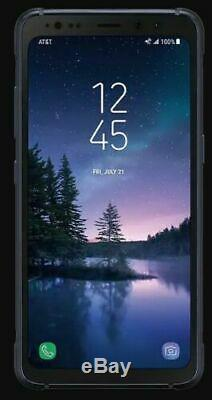 Édition Limitée Camo Bleu Grand État Samsung S8 Actif G892a Gsm Déverrouillé