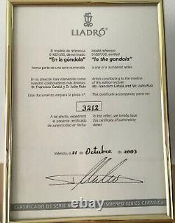 Édition Limitée Signée Lladró Gondola No 3212 Avec Boîte Grande Condition