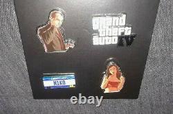 Ensemble D'épingles De Promo Auto IV De Grand Theft (2008) Vg Condition Édition Limitée Gta 4 Pins
