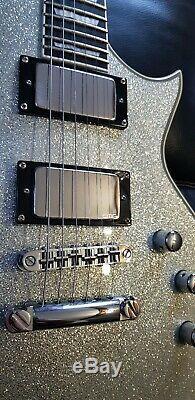 Esp Ltd Ec-1000 Ssp Deluxe. 2014 Corée. Silver Sparkle. Superbe Condition! + H / C