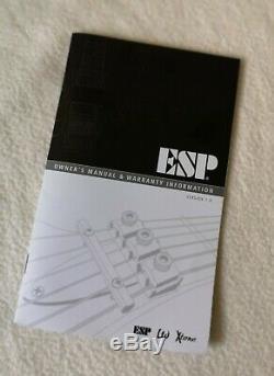 Esp Ltd Ec-1000 Voir À Travers Le Cerisier Sombre Etat Fantastique Micros Emg Acajou