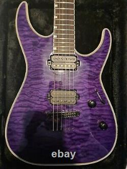 Esp Ltd Mh-1000nt, See-thru Purple Excellent État Avec Gator Hardcase