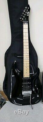 Esp Ltd Mh-53 Électrique Noir Guitare État Agréable Avec Étui