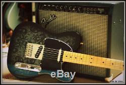 Fender Telecaster Fsr Noir Paisley Special Edition Limitée Etat Neuf