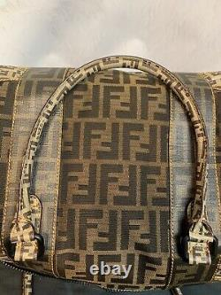Fendi Zucca Spalmati B MIX Large Tote Authentic Mint Condition Amazing Pdsf$3995