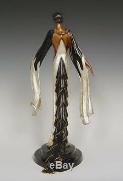 Feuilles De Feu (bronze), Édition Limitée, Erte, État Neuf Avec Coa