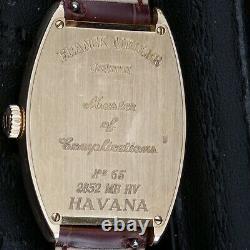 Franck Muller 18k Gold Master Banker Havana Montre Super Condition Un Seul Au Royaume-uni