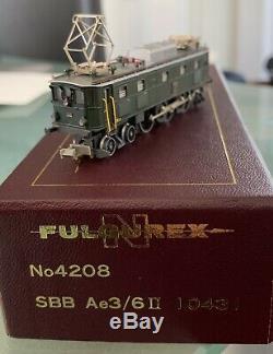 Fulgurex N Guage No 4208 Loco Électrique Cff Ae3 / 611 10431 Excellent Condition