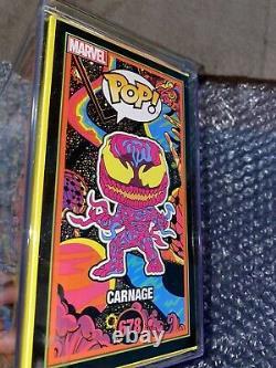 Funko Pop Marvel Black Light Carnage Mint Condition