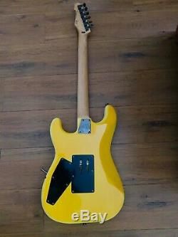 George Lynch Esp Ltd Gl-200mt Signature Guitar Yellow Tiger Mint Condition
