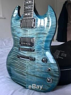 Gibson Sg Supreme 2016 Limited Edition En Bleu Océan Mint Condition