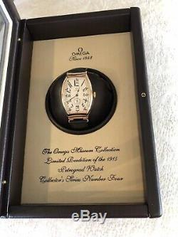 Impeccable Solid Gold Omega 5703.30.01 Museum Collection Petrograd
