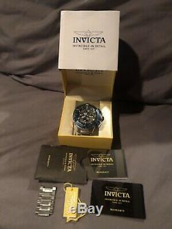 Invicta Rare 15493 Subaqua Swiss Chrono Auto New Etat Gris / Bleu Wr 1640ft