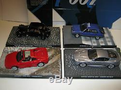 James Bond Car Collection 50 X 007 Modèles Moulés Sous Pression, Tous En Parfait État