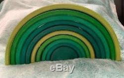 Jouets De Grimm Vert Édition Limitée Rainbow Wooden Toy État Neuf