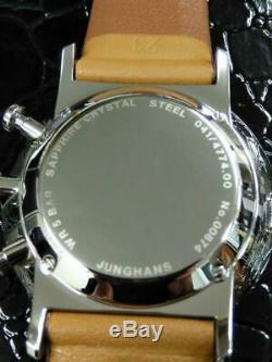 # Junghans Chronoscope Mens Watch Leater État Neuf Avec Boite Et Papiers
