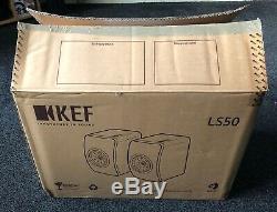 Kef Ls50 Limited Edition Sérigraphié Noir Excellent État (peu Utilisé)