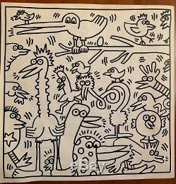 Keith Haring 1985 Coloring Book Limited Edition, Unmarked, Très Bon État