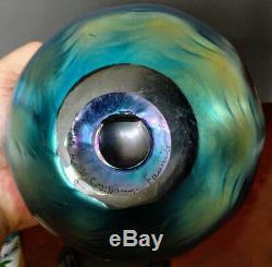 Le Bol En Verre Bleu Art Favrile De L. C. Tiffany 1917 Est En Parfait État, Rare