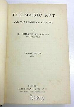 Le Golden Bough Par James Frazer, Original 1955 13 Volume Set, Grande Condition