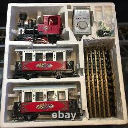 Lgb #22540 The Christmas Train Red Starter Set G Scale Excellent État