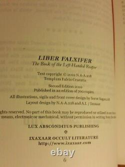Liber Falxifer 1-2-3 Ixaxaar N. A-a. 218 Ensemble Rare Totbl Near Fine Condition Occult