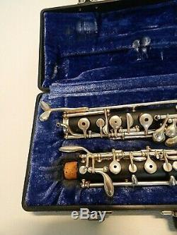 Lintone Elkhart Ltd Oboe Boîtier En Plastique Très Bon État De Propreté Avec Étui