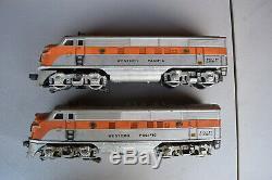 Lionel Post-war # 2345 F3 Pacifique Occidental Diesel Aa Unités Bonne Condition (rare)