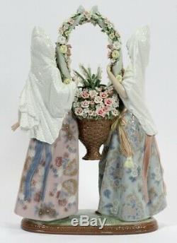 Lladro 1490 Elite Glased Offrant Floral Limited Edition Parfait État