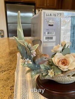 Lladro 1877 Floral Serenade Ltd Ed. Avec Base Et Boîte Originale État Parfait