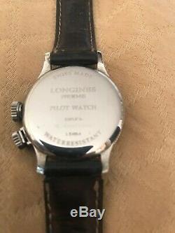Longines Weems Pilote Montre À Remontage Manuel Ltd 1000 33mm Bon Conditions Ss