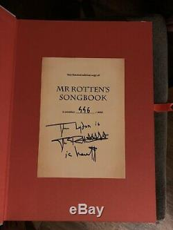 M. Rottens Songbook Limited Edition Impeccable Originale Numérotée Et Signée