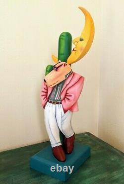 Markus Pierson, Rêve D'elle, Sculpture De Bois, Condition Mint