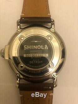 Mens Shinola Runwell Dial 47mm Cream. En Parfaite Condition