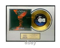 Michael Jackson Scream 45 Gold Record Edition Limitée 983/3000 État De La Monnaie