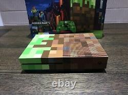 Microsoft Xbox One S Minecraft Edition Limitée Console Rare Excellent État