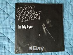 Minor Threat In My Eyes Première Pression Rouge Gary Cousin Très Bon État Nofx