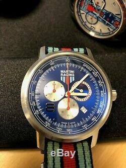 Montre Porsche D'origine Martini Racing Chronograph Condition D'occasion Rare Ltd Edition