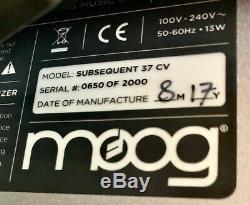 Moog Après 37 CV (édition Limitée) Parfait État