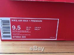 Nike Air Max 1 Une Dynamique Berry 9,5 Eu 43 Uk 8.5 Forme Og Qs Limited Edition