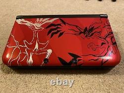 Nintendo 3ds XL Pokemon Xy Red Edition Limitée + 10 Jeux Excellent État