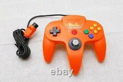 Nintendo 64 Console Pikachu Orange Yellow Limited Edition N64 Bon État Jp