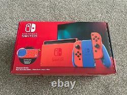 Nintendo Switch Edition Limitée Console De Mario Rouge Et Bleu Excellent État